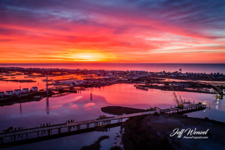 JW117: Sunrise Over Surf City Bridge Construction