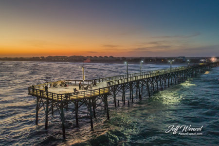JW118 Seaview Pier Winter Sunset