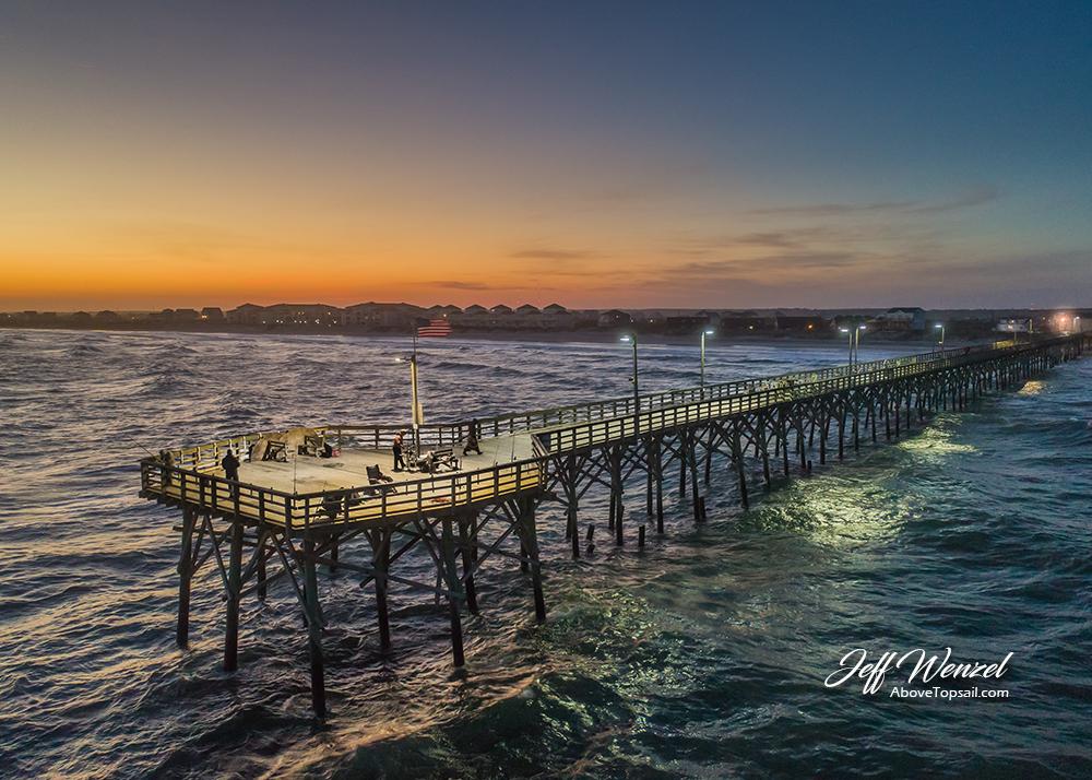 JW118 Seaview Pier Winter Sunset