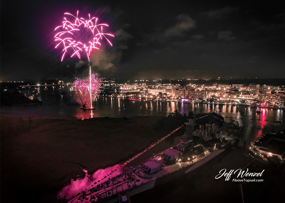 Car Dealerships Wilmington Nc >> JW061: Purple Firework Over Battleship – Above Topsail
