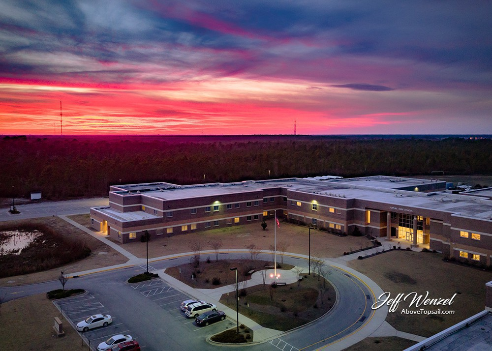 Jw Sunset Over Topsail High School