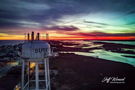 JW103: Surf City Water Tower Lava Flow Sunset