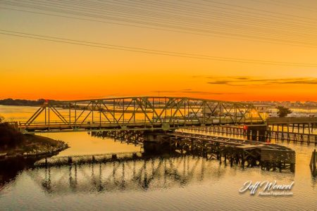 JW102: Swing Bridge Yellow Sunrise