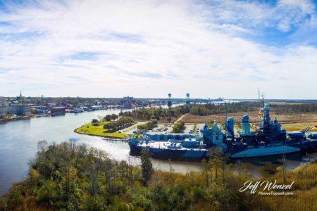 JW018: Downtown Wilmington with Battleship