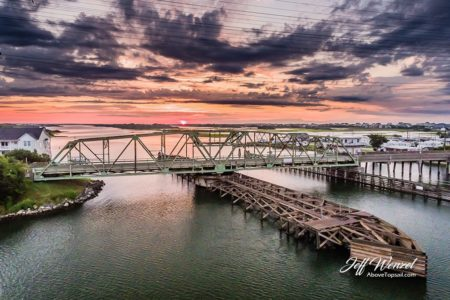 JW013: Swing Bridge Sunrise Purple Clouds