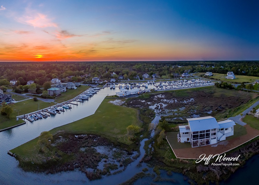 Jw023 Harbour Village Marina Clubhouse Sunset Above Topsail