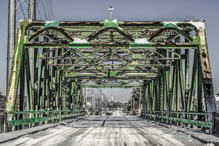 Snowy Swing Bridge Crossing web