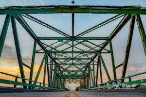 JW179 Swing Bridge Setting Sun