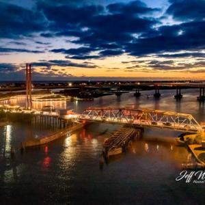 JW180 Surf City Bridges After Sunset