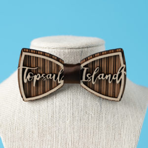 Topsail Island Wooden Bow Tie