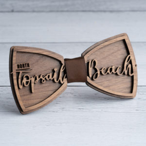 North Topsail Beach Wooden Bow Tie