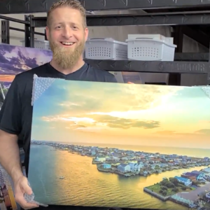 """Inventory Reduction: """"South End Canal Sunrise"""" 20×30″ Canvas"""
