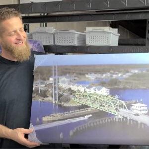 Inventory Reduction: Miniature Swing Bridge 20×30″ Canvas