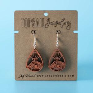 Remora Sea Turtle Earrings